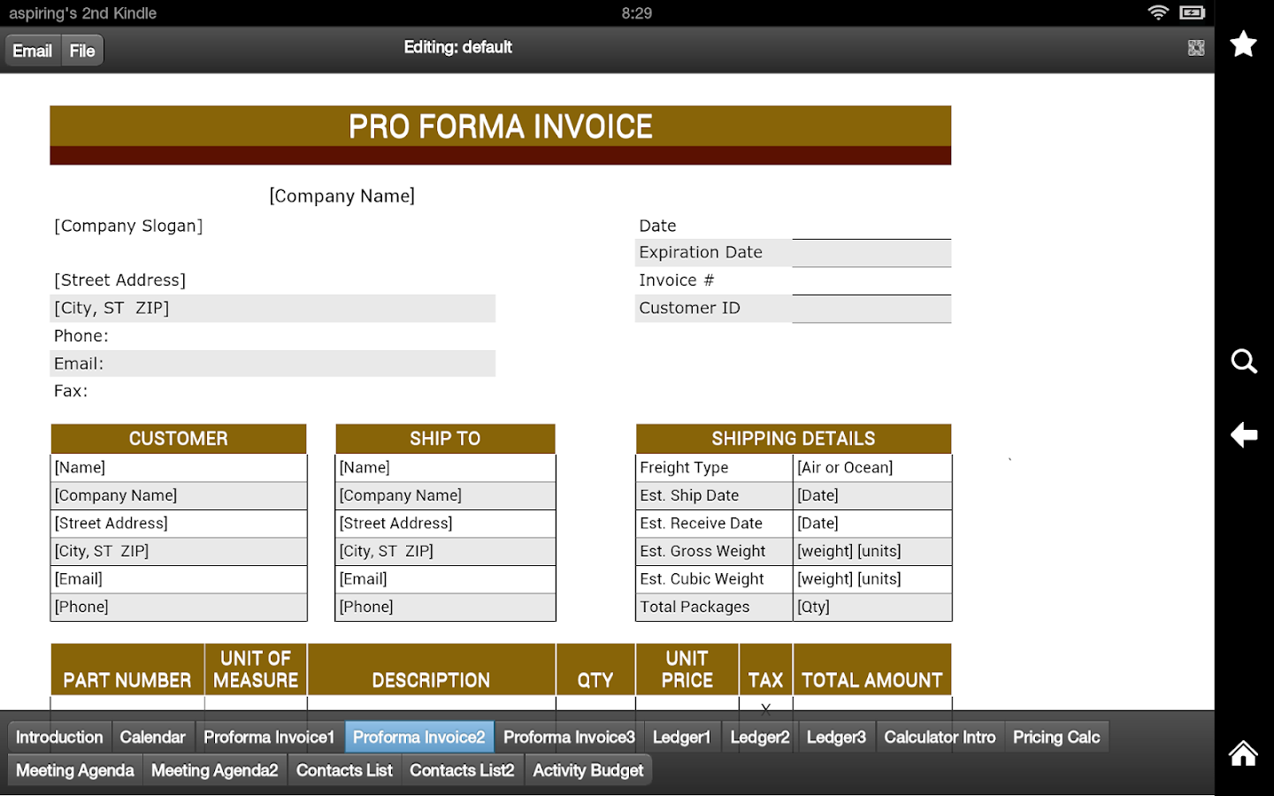 proforma invoice android apps on google play proforma invoice screenshot