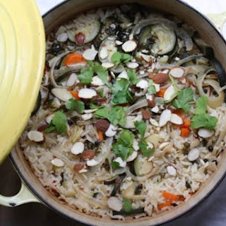 Coconut-Vegetable Rice Pilaf with Peppercorns