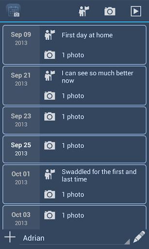 Baby Photo Album Timeline