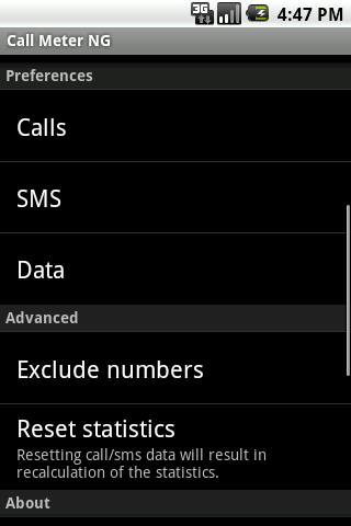 Call Meter NG - screenshot