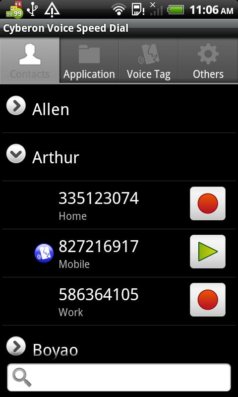 Voice Speed Dial - screenshot