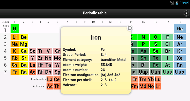 Periodic table android apps on google play periodic table screenshot urtaz Choice Image