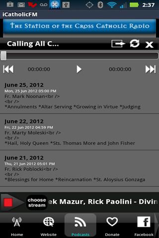 iCatholicRadio - screenshot