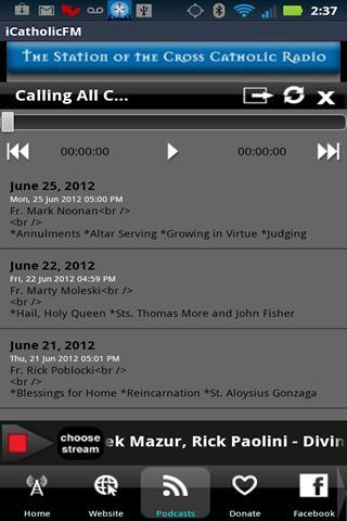 iCatholicRadio - screenshot