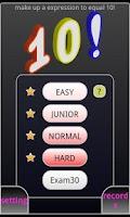 Screenshot of 10! - Arithmetic Puzzle Game -