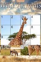 Screenshot of Wild Animals Slider Puzzle
