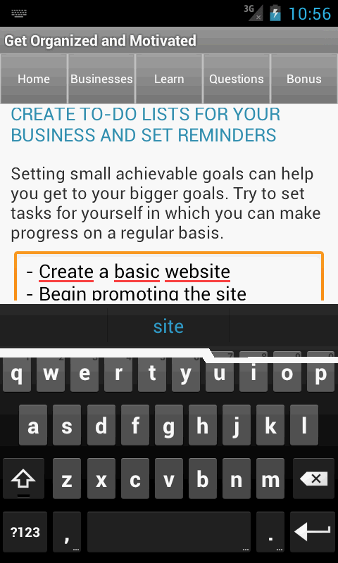 Small Business Coach & Plan - screenshot