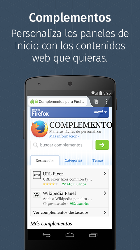 Firefox navegador oficial - screenshot