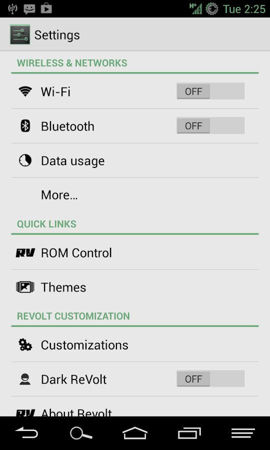 HOLO LIGHT GREEN AOKP/CM THEME - screenshot