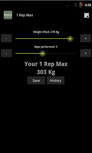1 Rep Max Calculator