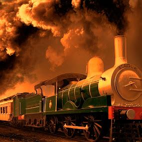 Eagle is rising ! by Agha Ahmed - Transportation Trains ( railway, locomotive, steam train, train, steam )