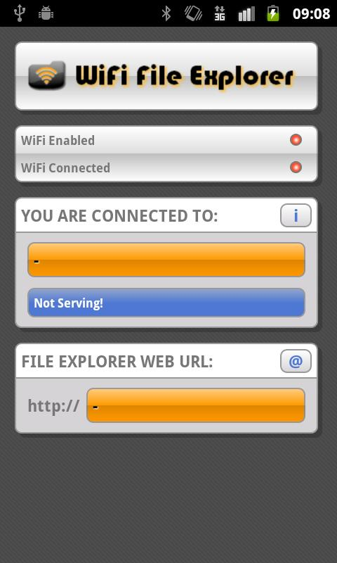 WiFi File Explorer - screenshot