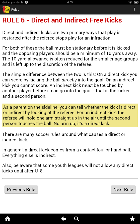 Simple Soccer Rules (Ad free)- screenshot