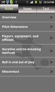 Sports Rules & News - screenshot thumbnail