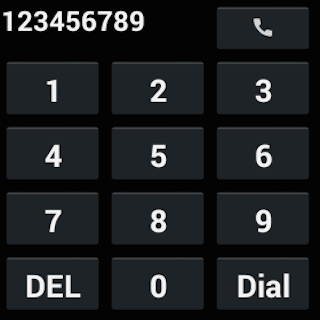 Dialer for Android Wear- screenshot