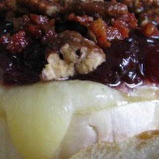 Baked Brie with Cranberry, Pancetta, and Spiced Pecans