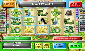 Screenshot of Irish Treasure Slots