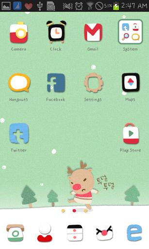 【免費個人化App】Koru Teasing Santa go launcher-APP點子