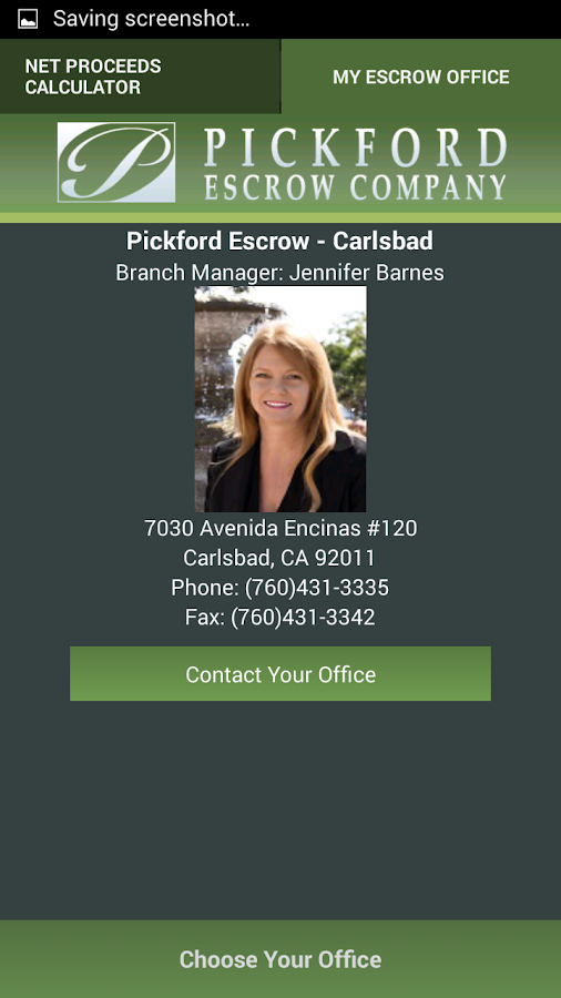 Pickford Escrow - screenshot