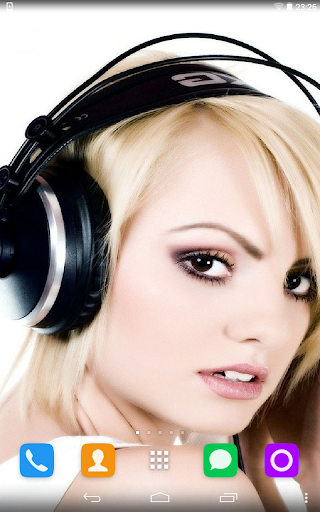 Girl With Headphones Wallpaper