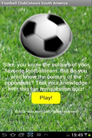 Football Colours South America