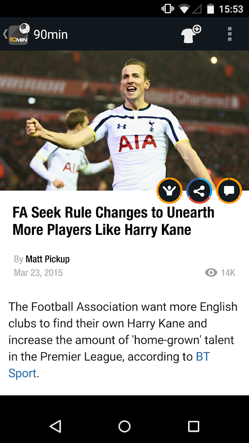 90min - The Football News App- screenshot