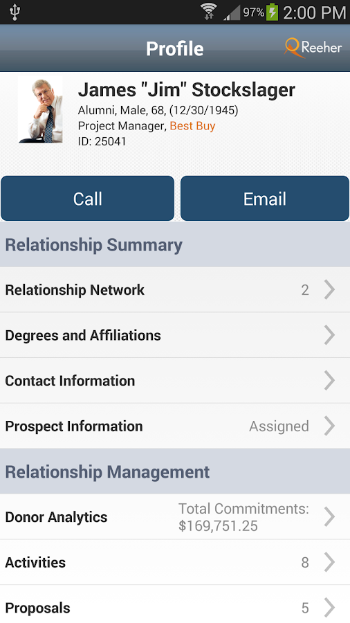 Reeher Mobile- screenshot