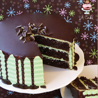 Andes Mint Chocolate Cake with Ganache.