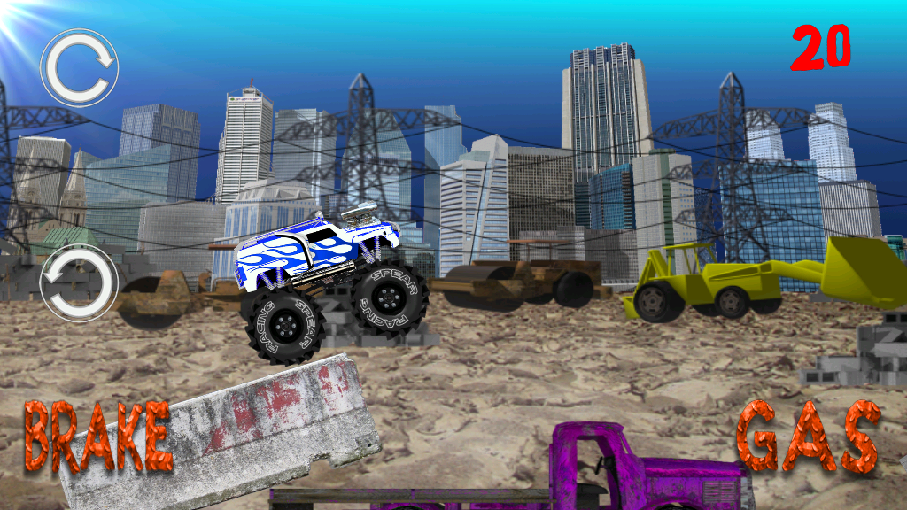 Monster Truck Junkyard 2- screenshot