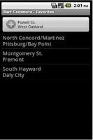 Screenshot of Bart Commute