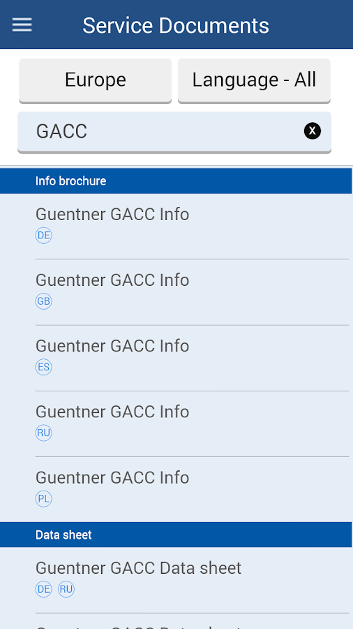 Güntner- screenshot
