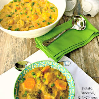 Potato, Broccoli, & 3-Cheese Soup.