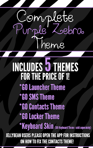 Complete Purple Zebra Theme