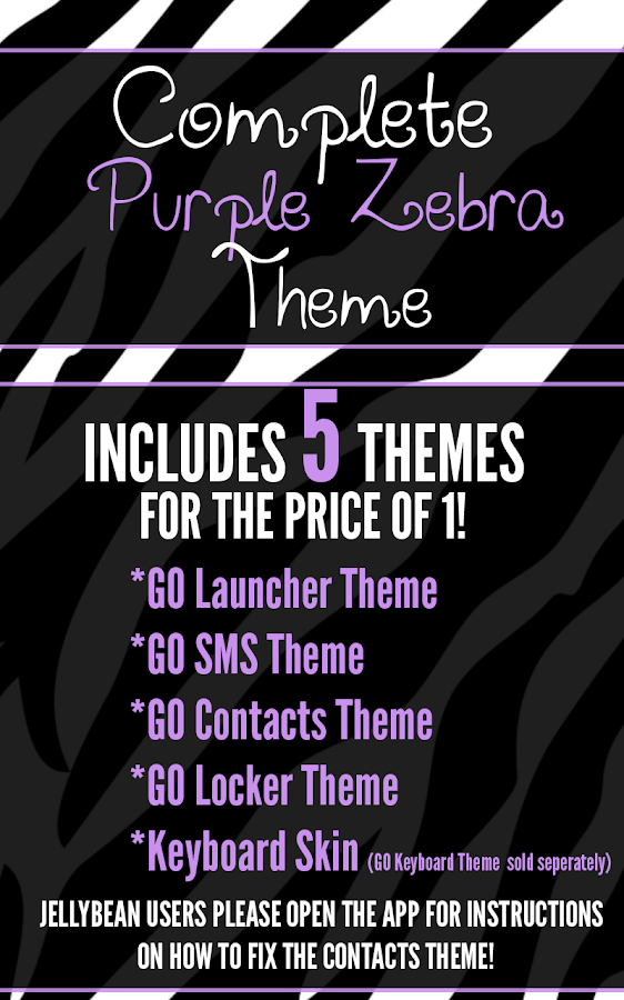 Complete Purple Zebra Theme- screenshot
