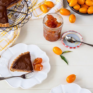 Almond, Chocolate And Cumquat Tart With Candied Cumquats