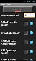 Screenshot of Sensor Tester