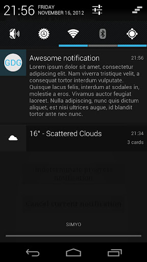 GDG Widgets and Notifications