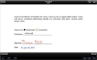 Screenshot of SignMyPad Pro