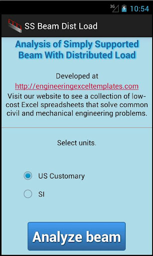 SS Beam Dist Load