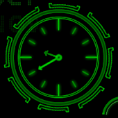 Neon Clock Live wallpaper APK for Blackberry