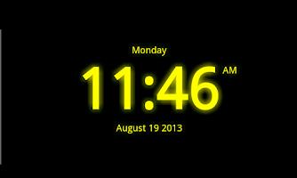 Screenshot of Digital Clock Live Wallpaper-7