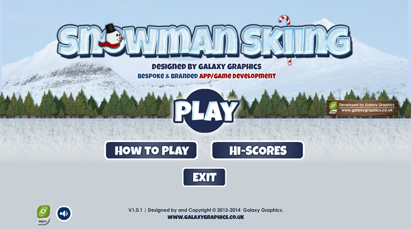 Snowman Skiing- screenshot