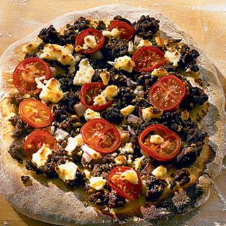 Greek Pizza with Feta.