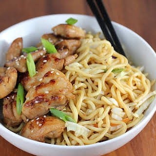 Asian Chicken with Pasta.