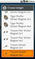 Screenshot of Toucan Stickers