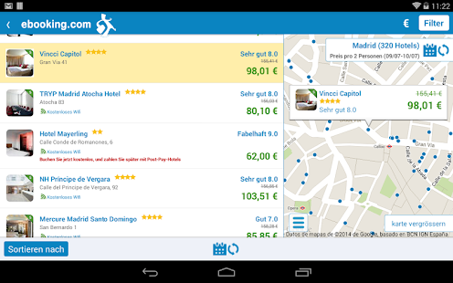 ebooking.com: hotels online – Miniaturansicht des Screenshots