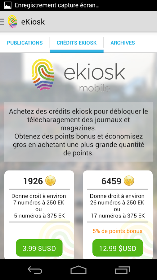 ekiosk mobile- screenshot