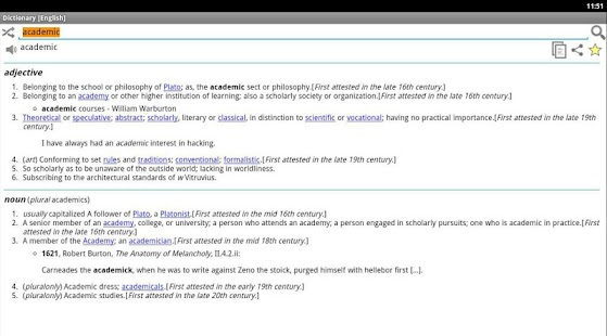 Online Dictionary - screenshot thumbnail