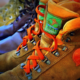 Three boots by Dino Rimantho - Artistic Objects Clothing & Accessories ( clothing, artistic, accessories, objects, boots,  )