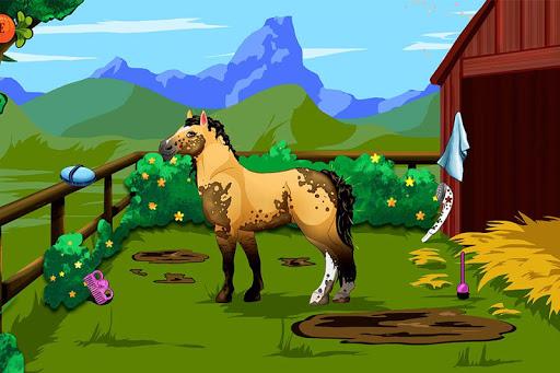 扮靓的小马。